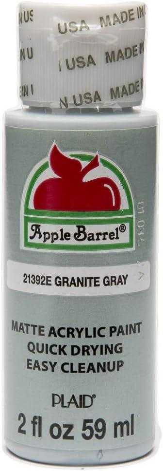 Apple Barrel Acrylic Paint in Assorted Colors (2 oz), 21392, Granite Grey