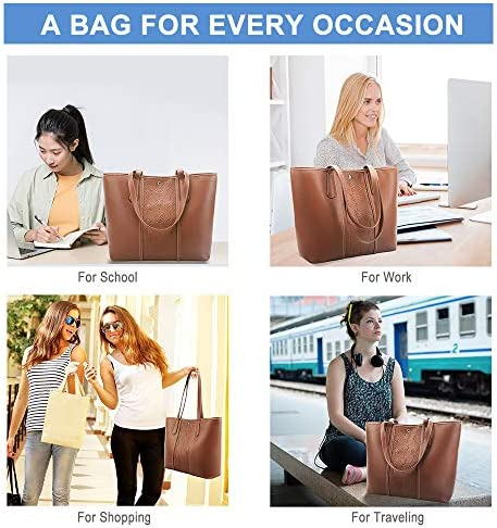 Lekesky Leather Women Purses and Handbags, Shoulder Tote Bag for Women, Medium