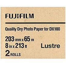 """Fujifilm DX100 InkJet Paper Lustre - 8"""" x 213' - 2 Rolls"""