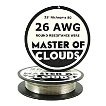 Nichrome 80 - 25 ft 26 Gauge AWG Resistance Wire 0.40mm 26g 25' by Master Of Clouds