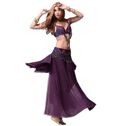 Qichengdian Falda de Danza del Vientre para Mujer Trajes De Baile ...