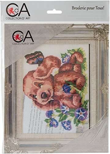 RTO Collection D'Art Stamped Needlepoint Kit 20X25cm-Puppy And Butterfly by RTO