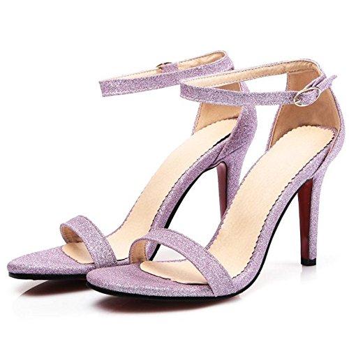 Sandales Bride Femmes Cheville RAZAMAZA Purple wqnZR0Yn8