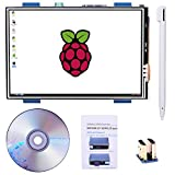 For Raspberry PI 3 Generation TFT Touch Screen, Kuman 3.5 Inch TFT LCD Display Monitor Support all Raspberry PI System, Video Movie Play, Arcade Game, HDMI Audio Input SC6A