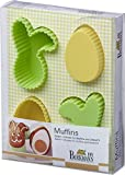 Birkmann Silicone Set of 4 Easter Bunny & Egg Cake & Muffin Molds