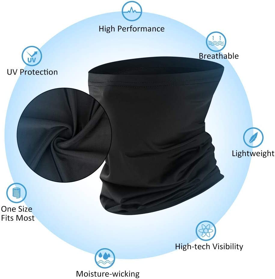 Breathable Face Cover UV Protection DiaryLook Men Neck Gaiter Face Scarf Outdoor Hiking Unisex Face Bandana Mask for Cycling
