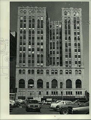 Vintage Photos Historic Images 1980 Press Photo National Savings Bank Building, Howard Street, Albany, York - 9.25 x 7 in