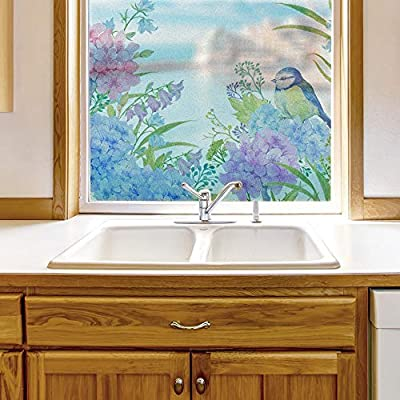 Window Film for Privacy Story Plants Large Decorative Glass Sticker for Office Home Meeting Room Bathroom Self Adhesive Anti UV Removable Flims, Premium Product, Fascinating Work of Art