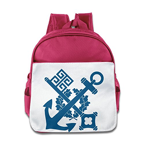 XJBD Custom Funny Steamship Anchor Children School Backpack For 1-6 Years Old Pink -
