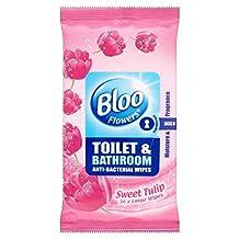 Bloo Flowers Toilet & Bathroom Anti Bacterial Wipes Sweet Tulip (36) - Pack of 6