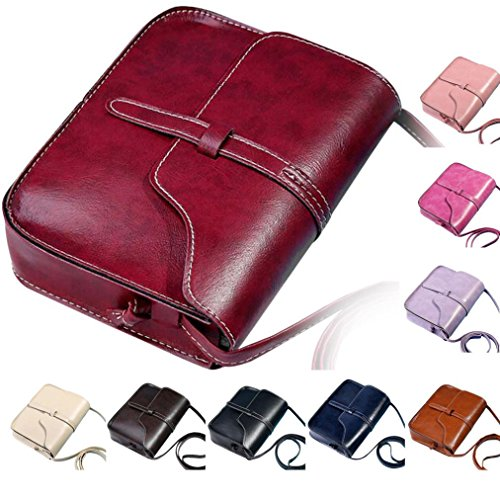 Purse Vintage Messenger Bag Body Shoulder Shoulder Cross Bag Leather PLOT Purple Messenger Bag qtIC4wHA