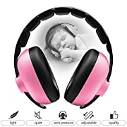 BBTKCARE Baby Headphones Noise Cancelling Headphones for Babies for 3 Months to 2 Years (Pink)