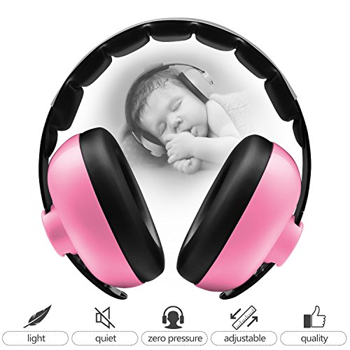 (BBTKCARE Baby Headphones Noise Cancelling Headphones for Babies for 3 Months to 2 Years (Pink))