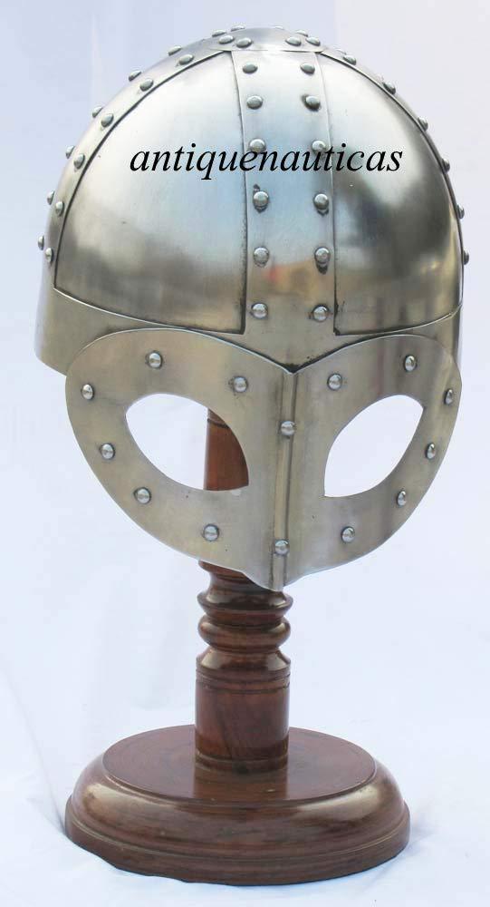 Shivi Shakti Enterprises Casco Nasal Medieval Funcional de Viking con reincorporación de Acero de 18 G para Halloween