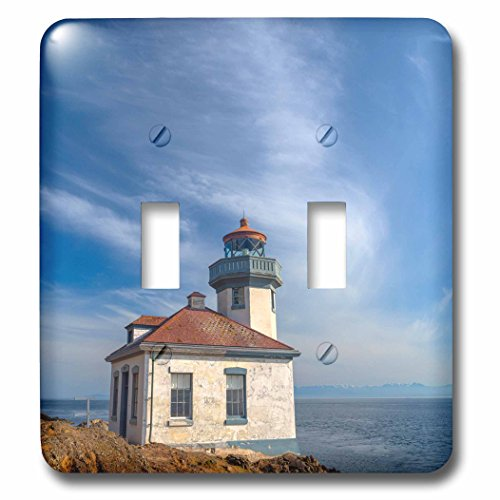 3dRose Danita Delimont - Lighthouses - Washington, San Juan Island, Lime Kiln Point Lighthouse. - Light Switch Covers - double toggle switch (Lime Kiln Lighthouse)
