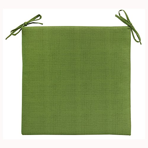 Commonwealth Chevron UV Protected Arm Chair Square Seat Pad Furniture Cushion - Green 18x19 by Commonwealth