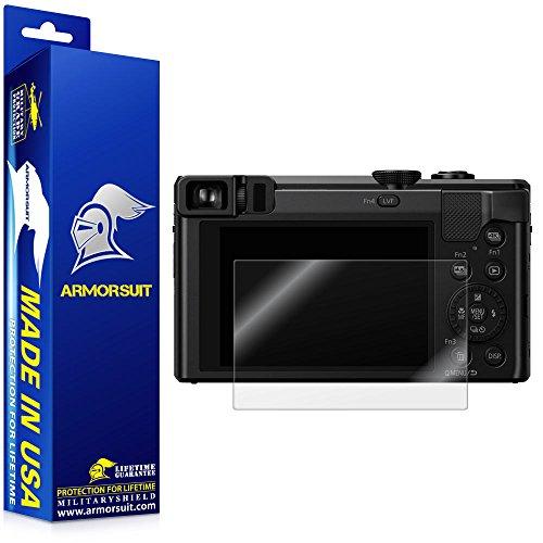 ArmorSuit Panasonic Lumix DMC-ZS60 Camera Screen Protector Full Coverage MilitaryShield Screen Protector for Panasonic Lumix DMC-ZS60 - HD Clear Anti-Bubble Film