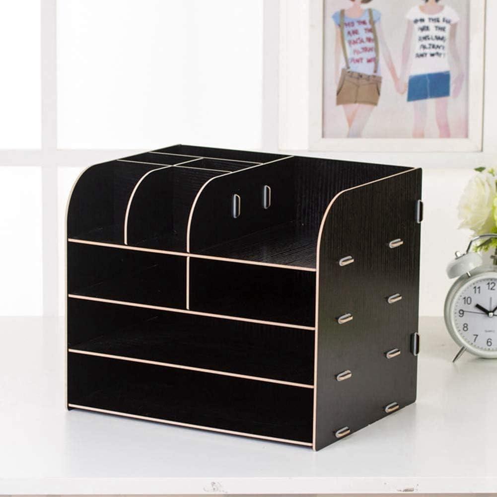 oficina Organizador de escritorio de madera para escritorio hogar. Beige