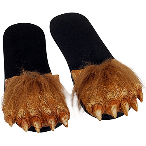 Adult Latex WEREWOLF FEET Hairy Costume Sandals (Movie Quality Werewolf Costumes)