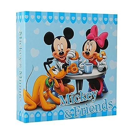Álbum de fotos con fundas, diseño de Mickey y Minnie 200 fotos de 10 x