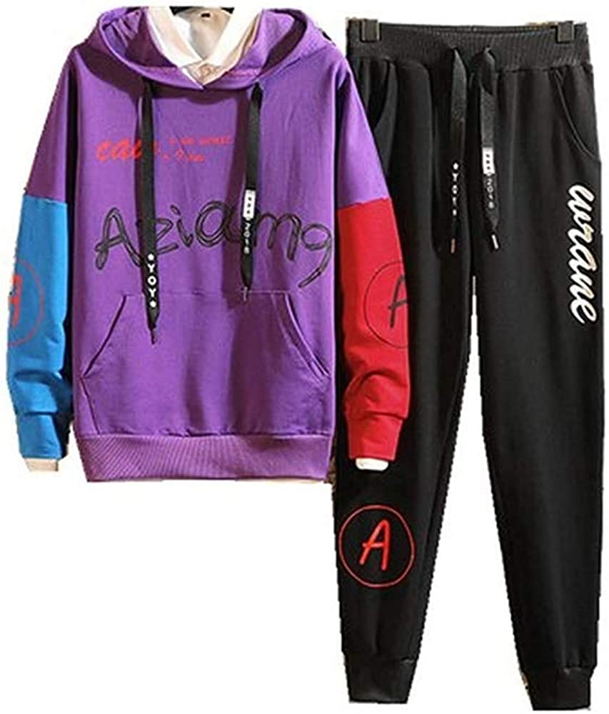 Mens Casual Tracksuit Long Sleeve Running Jogging Athletic Sports Set