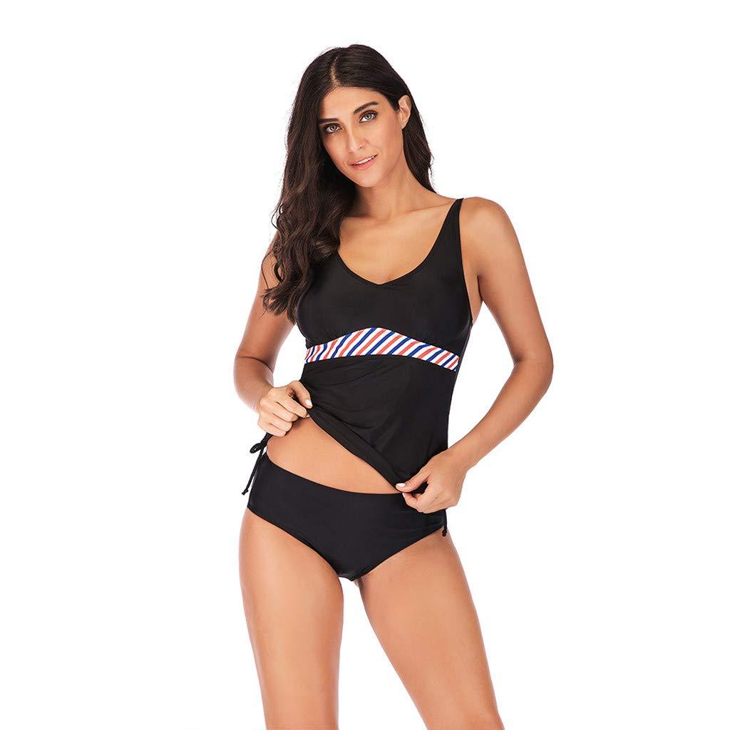 Blustercool Women Plus Size Print Tankini Swimjupmsuit Swimsuit Beachwear Padded Swimwear