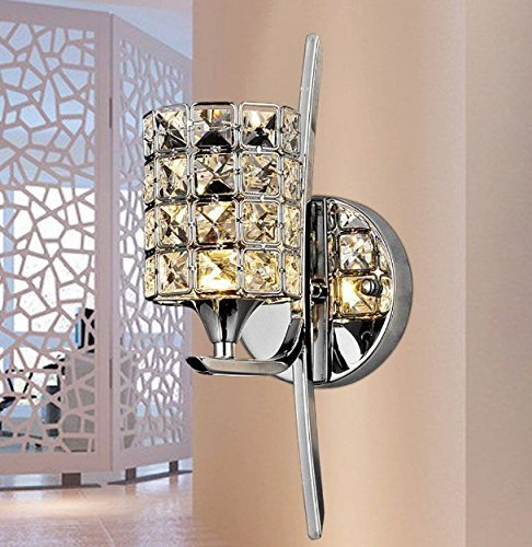 Lightess Modern Crystal Wall Sconce Lighting For Bathroom Home Import It All