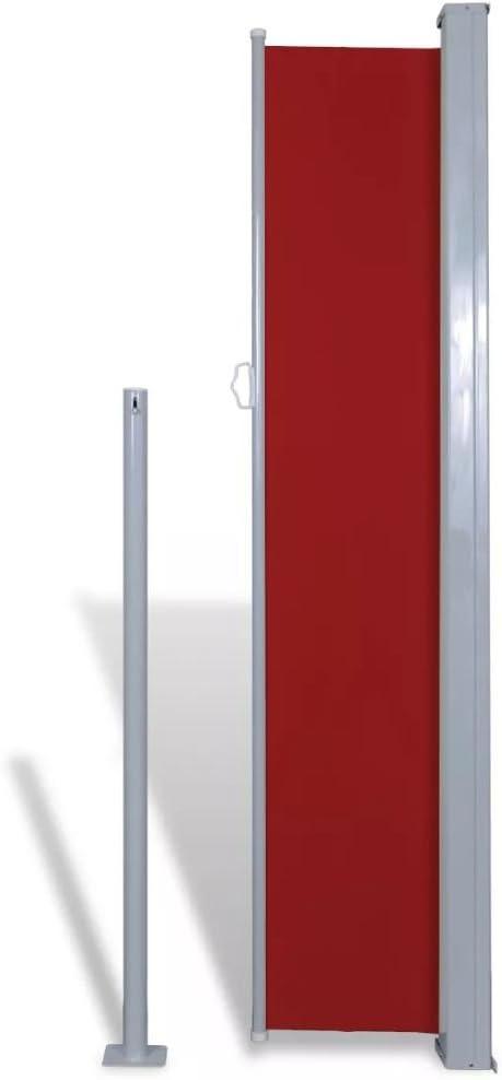Balcon Sombra Terraza Toldo Terraza Carpa Terraza Cenador para Patio Benkeg Toldo Lateral Retr/áctil para jard/ín o terraza Patio 180x300 cm De Tela Rojo Toldo para Patio Terraza Jard/ín