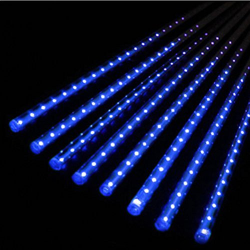 Blue Led Icicle Xmas Lights - 5