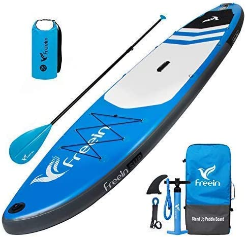 Freein Explorer SUP Inflatable Stand Up Paddle Board ISUP 10 2 11 Long 33 Wide with Sport Camera Mount Package