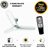 Gorilla Energy Saving 5 Star Rated 1400 Mm Ceiling Fan With Remote Control And Bldc Motor- White