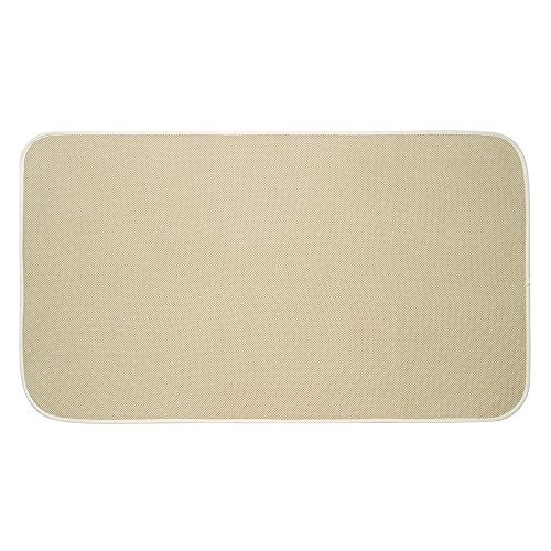 InterDesign iDry Microfiber Shower and Bath Mat for Bathroom Floor - Extra Large, (Wheat Bamboo Curtain)