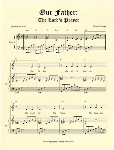 Amazon com: Our Father: The Lord's Prayer for Harp and Voice