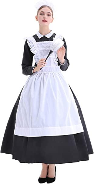 icewalker Disfraz de Mucama para Mujer Disfraz de Pobre Victoriana ...
