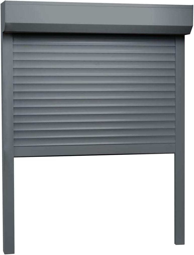 vidaXL - Persiana enrollable de aluminio con buen aislamiento térmico y acústico, 130 x 140 cm, color antracita: Amazon.es: Bricolaje y herramientas