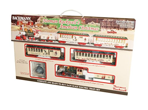 Hobby Electric Trains - Bachmann Norman Rockwell's American Christmas Ready To Run Electric Train Set