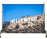 LYLYCTY 5x7ft /1.5x2.1M Photo Backdrop The Famous Los Angeles Hollywood Scenic Spots Picture Studio Photography Background Props LY013