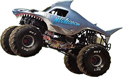 MEGALODON Decal Monster Truck monster jam WALL Vinyl STICKER Home Decor Art Monster Truck Jam Mural Kids. 18