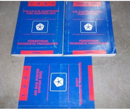1993 Dodge Ram Van Wagon Service Repair Manual SET OEM (body/powertrain diagnostics procedures manual.) -