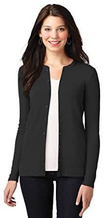 e50b575ce3f4 Port Authority Ladies Concept Stretch Button-Front Cardigan, Black, X-Small