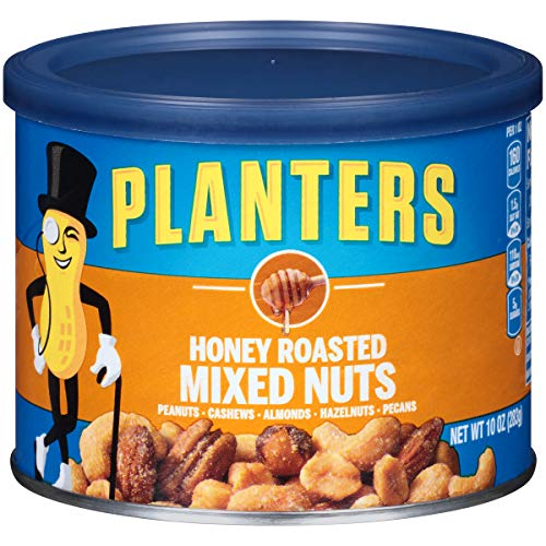 - Planters Honey Roasted Mixed Nuts (10 oz Canisters, Pack of 4)