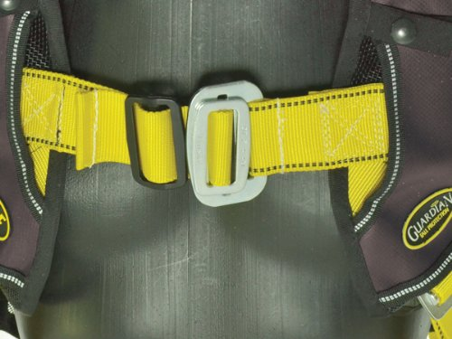 Guardian Fall Protection 181121 Basic HUV Premium Edge Series Harness with Pass-Thru (Black Edge Legs)