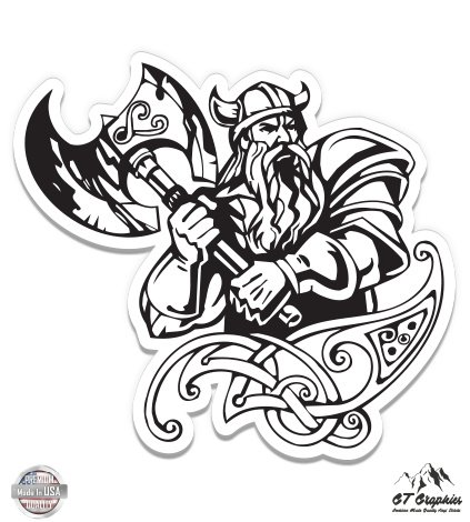 Gt Graphics Viking Norse Vinyl Sticker Waterproof Decal