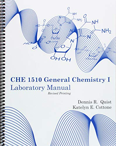 CHE 1510-General Chemistry I Laboratory Manual