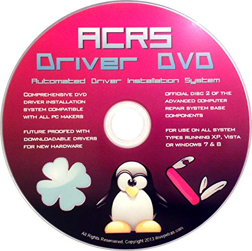 Windows Driver Software 2018 Automatic Easy Install Updater DVD Disc for  Windows 10, 8, 7, Vista, XP | Full Computers Support Dell HP Toshiba Sony