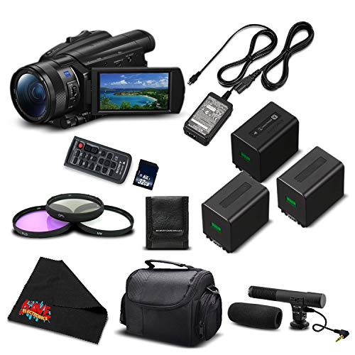 Sony FDR-AX700 4K HDR Camcorder w/3.5 Inch LCD (FDR-AX700/B) Advanced Bundle