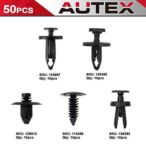 - AUTEX 50pcs Fascia Hood Grille Door Trim Clip Fastener Retainer Assortment Kit Auto Body Push Type Retainers Clips for 2006-2015 Dodge Charger