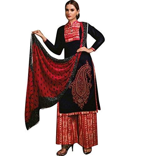 Palazzo-Pants-Cotton-Embroidered-Salwar-Kameez-Suit-Readymade