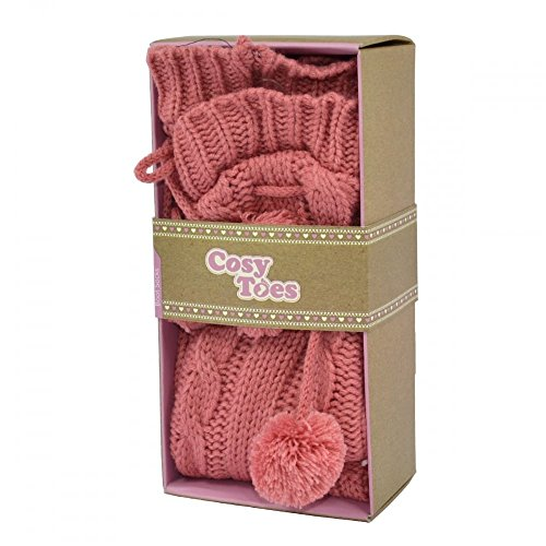Cosy Toes Pink Cable Knit Boot Socks