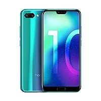 Huawei Honor 10-128GB, Dual Camera 24MP+16MP, 4GB RAM, LTE Factory Unlocked Smartphone - International Version (Phantom Green)
